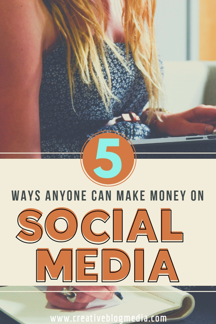 The options to make money on social media are just as endless as the amount of money you can make. Today I'm featuring my personal favorite top 5 ways for anyone to make money on social media. #socialmedia #bloggingtips