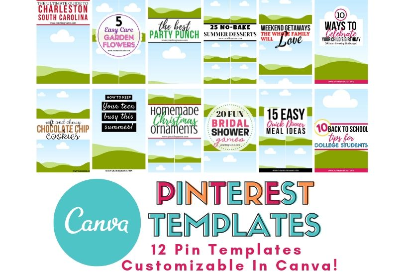 Want to conquer the creative Pin game but don't have the time? These Canva Templates for Pinterest are fully editable in Canva and can be customized to fit your business or blog.
